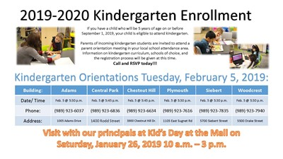 Kindergarten enrollment flyer